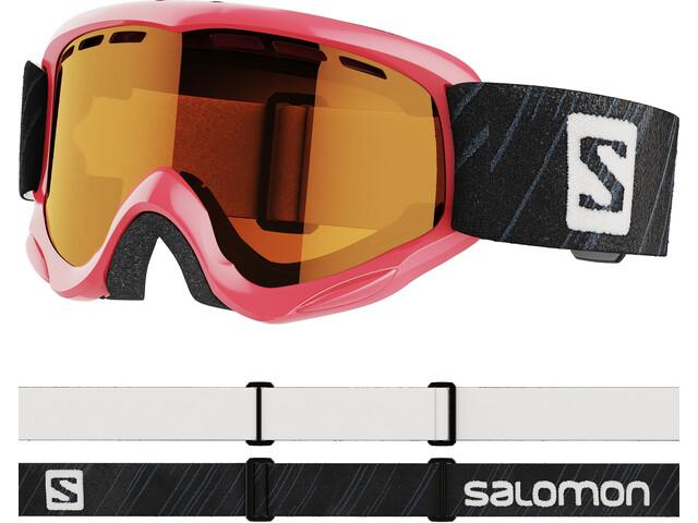 Salomon Juke Access Goggles Kinderen, pink/tonic orange